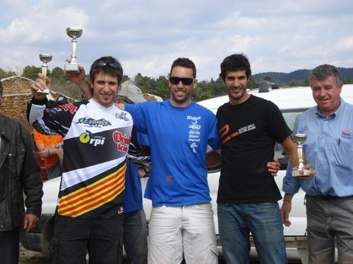 Jordi Balcells (esquerra) i Carles Figuerola (dreta) al podi.