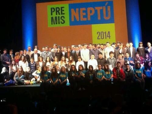 Fotografia conjunta de tots els guardonats als Premis Neptú 2013.