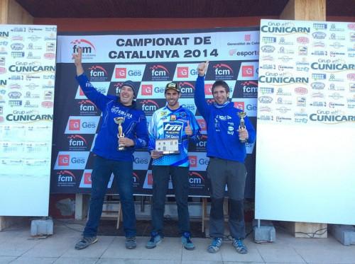Podi d'Enduro 2 amb Marc Vives (esquerra) i Jordi Balcells (dreta).