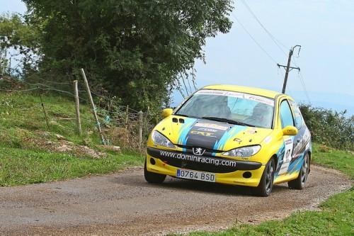 El Peugeot 206 copilotat per l'Igualadí Jaume Poch.