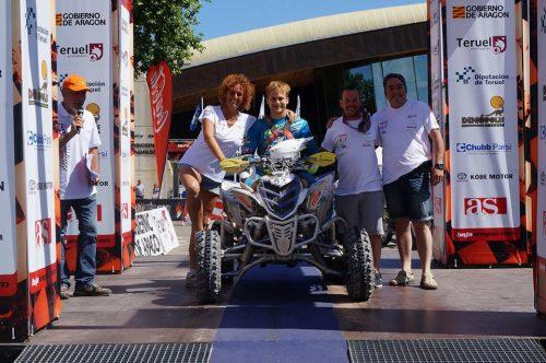 L'Equip de Vilà Racing al podi d'arribada