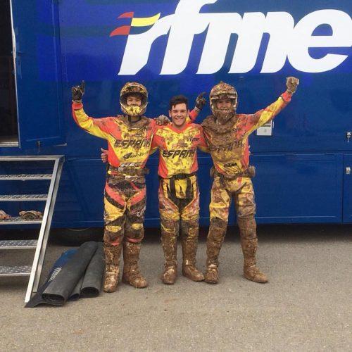 Jordi Sala a la dreta de la imatge amb el Team RFME