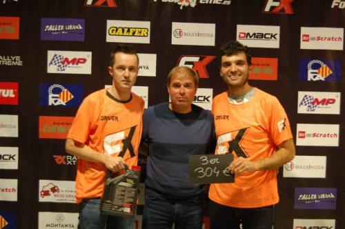 Cañellas-Sauleda rebent el premi com a tercers Classificats a Torrefeta-El Llor